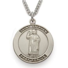 St. Stephen, Patron Of Contractors, Sterling Silver Medal http://www.truefaithjewelry.com/sm8219sh.html