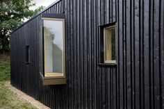 James gorst architects wood facade, wood cladding, house windows, windows a Wood Windows, House Windows, Windows And Doors, House Cladding, Wood Cladding, Wood Facade, House Elevation, Architecture Plan, Garden Spaces