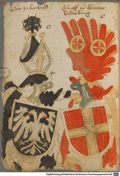 Ortenburger Wappenbuch Bayern, 1466 - 1473 Cod.icon. 308 u  Folio 6v