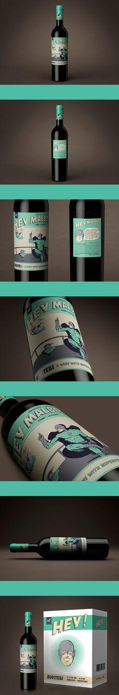 by Estudio Iuvaro - Cool Packaging, Beverage Packaging, Bottle Packaging, Brand Packaging, Wine Bottle Design, Wine Label Design, Wine Bottle Labels, In Vino Veritas, Package Design
