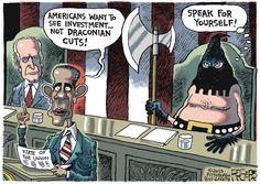 Obama's State of the Union address. Rob Rogers on GoComics.com #humor #comics #politics #Obama
