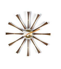Nelson Spindle Clock, designed by George Nelson.The Nelson clocks were first born from a festive evening of collaboration. George Nelson recalls: 'And there George Nelson, Vitra Design Museum, Modern Wall, Mid-century Modern, Modern Homes, Modern Bedroom, Retro Stil, Dot And Bo, Cool Ideas