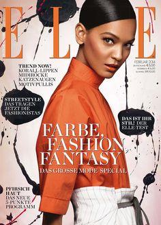 imgmodels:  Liya Kebede lands on the February cover of Elle Germany