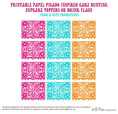 bnute productions: Free Printable Papel Picado Inspired Mini Banner