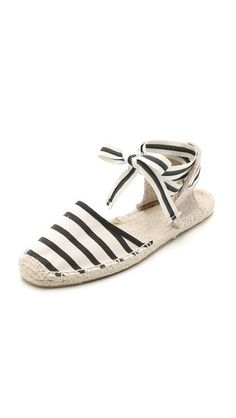 So cute!.. Soludos Classic Striped Espadrille Sandals