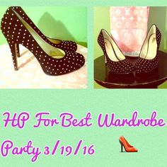 HP Black Suede Pumps- Size 10-NIB   HP For Best in Wardrobe given by the Beautiful @jalynnschroeder  Black Suede Pumps with small silver stud dots. Size 10. Super sexy shoe. Only tried on. Fits tts. Ask me about discount ship. #black #suede #pumps #size10 #nib #new #heels #sexy. INC International Concepts Shoes Heels