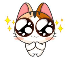Make your chats amusing with Gojill, a cheerful and mischievous tricolor kitten. Be Gojill's friend and you will not be lonesome.