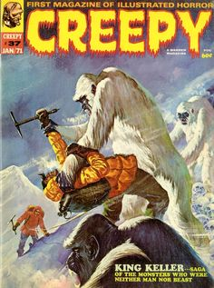 Yeti, Tibet Cartoon Cover