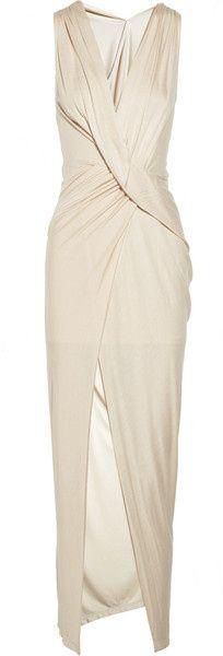 Art Haute Hippie Draped Jersey Wrap Effect Dress   dressmesweetiedarling wedding-i-heart-non-traditional-wedding-dresses