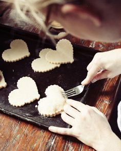 Heart shaped and stuffed sugar cookies - filled with ruv