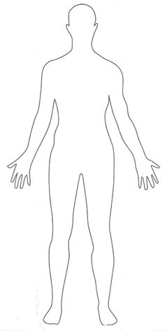 Whenever you proceed to draw a human body, you should begin with a full body outline template. The body outline is available for both male and female bodies- and… Person Outline, Body Outline, Outline Pictures, Human Body Drawing, Human Body Model, Body Diagram, Body Template, Anatomy Coloring Book, Body Map