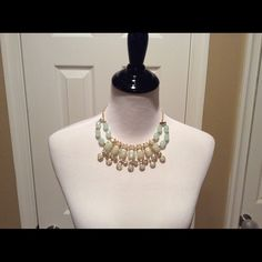 Gold & Blue Statement Necklace Gorgeous blue and gold statement necklace, great with a dress or now with jeans a t-shirt. Jewelry Necklaces