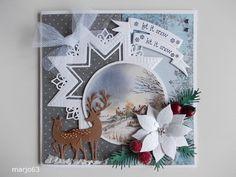 Voorbeeldkaart - Prettige Feestdagen - Categorie: Scrapkaarten - Hobbyjournaal uw hobby website