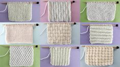 New Knit Stitch Pattern Book to create your favorite basic knit stitch patterns. Downloadable written and photographic samples of essential knit and purl stitch patterns for beginning knitters.  Downloadable PDF 8.5 x 11 18 page Booklet 16 Knit Stitch Patterns, plus Cover + TOC  VIDEO