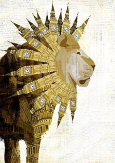 Big Ben Lion. All kinds of fabulous! Do you know of any other prints using British landmarks in unique ways? Please share in the comments!