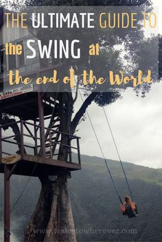 The Swing at the End of the World (or Casa del Arbol if we're going to get pernickety) is one of those places that's made its way onto so many people's bucket lists, but not everybody knows where it actually is. Well, it's in Ecuador. Baños, to be precise. And it's surprisingly super easy and super cheap to get to. Although not featured in the Ecuador section of Lonely Planet's South America on a Shoestring (I can't comment on the Lonely Planet's Ecuador guidebook because I'm a cheapskate…