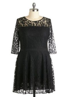 Make a Case for Lace Dress in Plus Size, #ModCloth (wish this was in Plum.  modest enough for taia to wear
