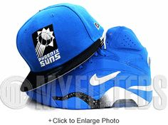 Phoenix Suns Cardinal Blue Jet Black Glacial White Spur Silver New Era Fitted Hat UP NOW ON MYFITTEDS.COM