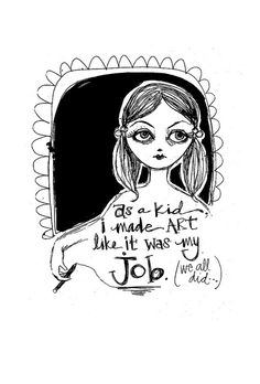 Art Drawing Girl Illustration by howtouseart on Flickr