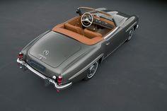 Arthur Bechtel Mercedes-Benz 190 SL schraeg rear draufsicht