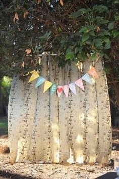 Photo Booth fabric and garland