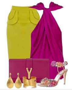 Chartreuse & Magenta Outfit