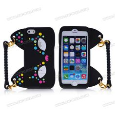 3D Colorful Fox Mask Handbag Design Anti-Shock Soft Rubberized Silicone Jelly Case Cover For iPhone 5s iPhone 5   SW-BOX.com