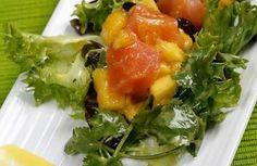Ensalada de salmón ahumado y mango >>>> http://www.srecepty.es/ensalada-de-salmon-ahumado-y-mango