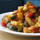 Zucchini and Potato Bake Recipe.  This would be good with some ground turkey added.