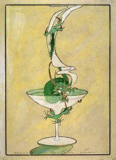 Green Dragon Cocktail by Bertha Lum