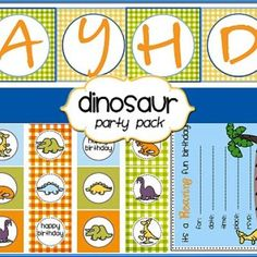 Dinosaur Party-Free Printables