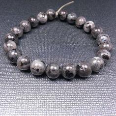 Stretch Larvikite Bracelet - Reiki Charged, Larvikite Bracelet, Larvikite Stretch Bracelet, Gemstone Bracelet, Stone Bracelet, Larvakite #handmadejewelry #handcraftedjewelry