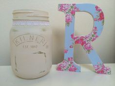Jars and wooden letters buy from my eBay- becky_1001