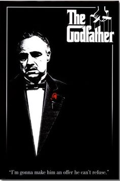 The Godfather movie poster from AllPostes.com.  Get your rebate from RebateGiant.