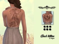 The Sims Resource: Back Tattoos by IzzieMcFire • Sims 4 Downloads