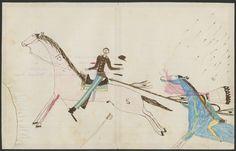 Ledger Drawing, Sioux, Pine Ridge Agency, South Dakota