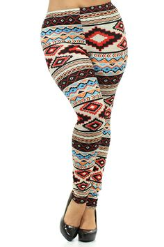 Aztec Printed Leggings 1x, 2x, 3x. $32.00. Blondellamy'Dean is a boutique just for Curvy Girls. Sizes 10-36. Daily New Arrivals.