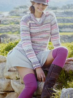 Design from Crofter Chunky Book (362) - 21 designs for all the family using Crofter Chunky. Sirdar have kept the designs in this Crofter Chunky book wonderfully simple, as the yarn itself creates the Fair Isle effect | English Yarns