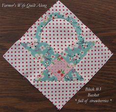 Farmer's Wife Quilt Along, Block 3 by Charise *, via Flickr see her other blocks
