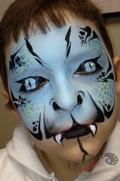 Face painting want tony to have these eyes