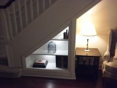 Bookcase Under the Stairs Project