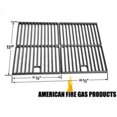 MATTE CAST-IRON COOKING GRIDS FOR WEBER SPIRIT 200, SPIRIT 500, 3711001, 3811001, 4411001, 4411411, 4511001 GAS MODELS