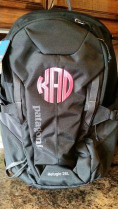 Patagonia backpack monogrammed