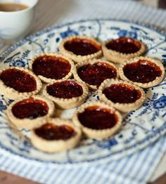 This 'incredibly difficult' recipe was sent in by my mum. You can use any jam in the tarts, whichever suits your taste buds best. Top tip from my mum: it's a good way to use up leftover pastry. I hope I do you proud mum! British Baking Show Recipes, British Bake Off Recipes, Jam Recipes, Sweet Recipes, Baking Recipes, Köstliche Desserts, Delicious Desserts, Dessert Recipes, Easter Desserts