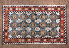 This hand made kilim rug is flat woven in a soumac technique. Made with all natural dyes and handspun wool. The weft wrap soumac style of weaving gives these ru