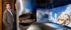 AD Intérieurs 2012. La salle de bains falaise de Bruno Moinard.