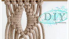 DIY Macrame weave, splot makrama, węzeł - YouTube Macrame Wall Hanging Patterns, Burlap Wreath, Fingerless Gloves, Arm Warmers, Weave, Modern, Youtube, Diy, Fingerless Mitts