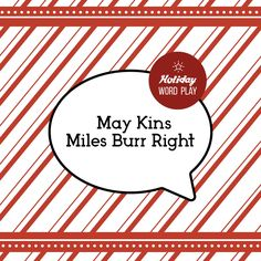 WHAT'S THIS HOLIDAY PHRASE? Say it fast a few times!
