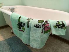 Vintage Mr. and Mrs. 3-piece Towel Set by VintageRoseandLace