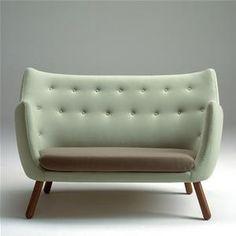 Posh. Finn Juhl Poeten Two-Seater Sofa.